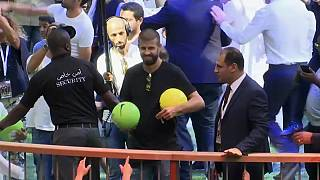 لاعبو برشلونة في قطر