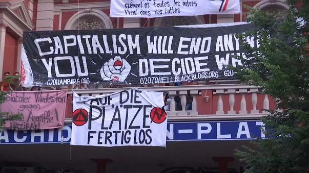 Tensión en Hamburgo por las protestas contra el G20