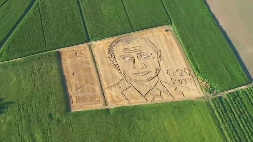 Putyin arca mosolyog az olasz búzamezőről