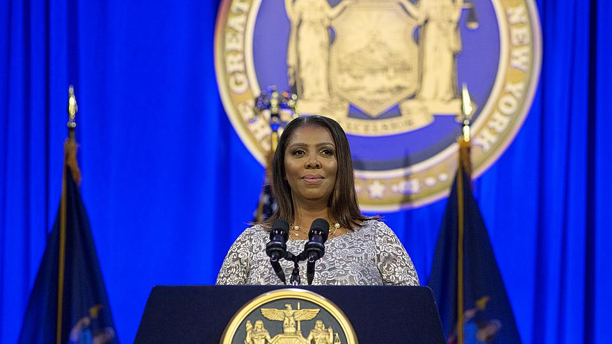 Image: New York State Attorney General Letitia James takes her oath of offi