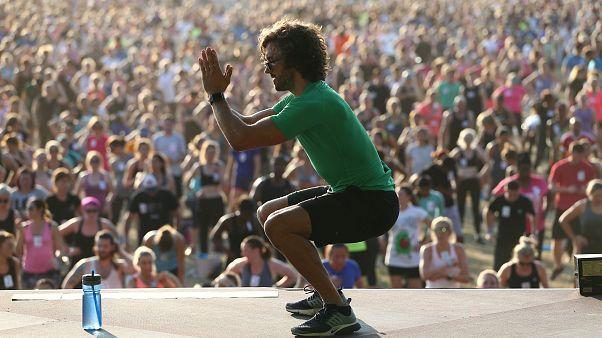 Une séance de sport qui figurera au Guinness des records