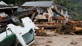 Record rainfall causes destruction in Japan