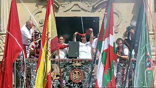 Pamplona's running of the bulls kicks off