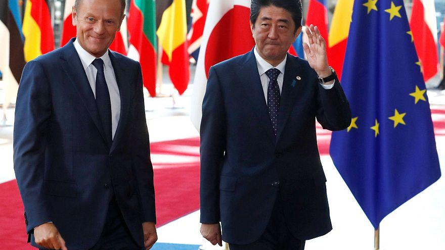 UE e Japão assumem-se como eixo anti-protecionismo comercial