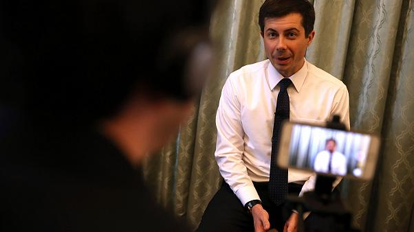 Image: Democratic presidential hopeful South Bend, Indiana mayor Pete Butti