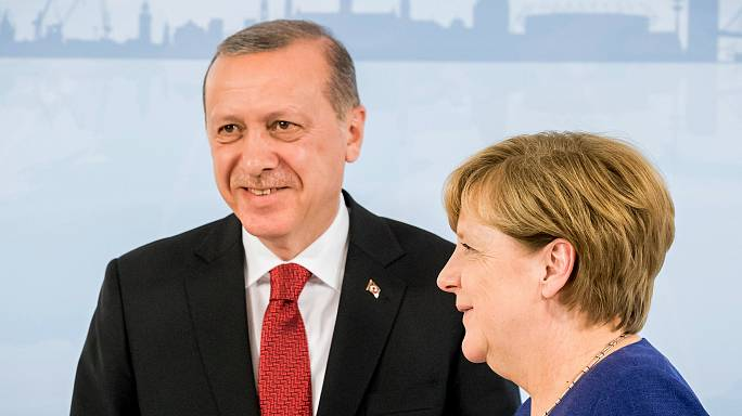 Merkel meets Erdogan, Trump ahead of tense G20 summit