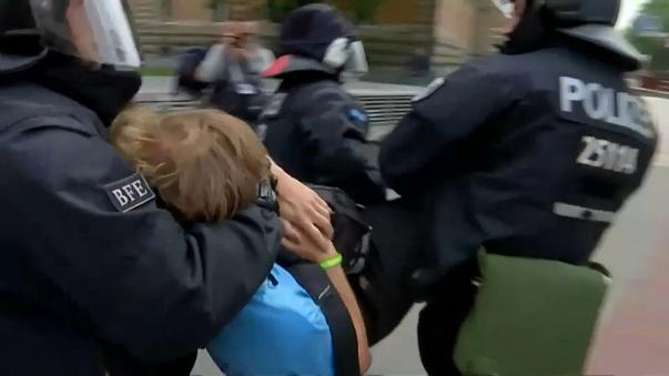 Dramatic scenes unfold at protests in Hamburg as G20 summit begins