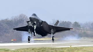 Image: An F-35A fighter jet