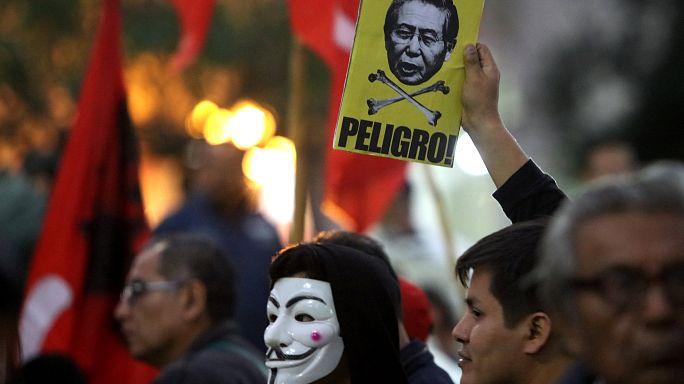 Manifestation contre une amnistie de Fujimori