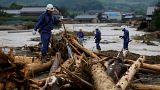جاری شدن سیل بی سابقه در جنوب غربی ژاپن