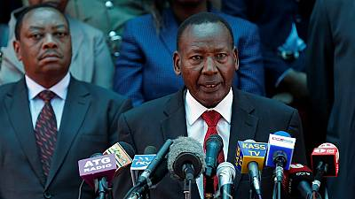 Kenya announces death of its interior minister and 'gallant officer'