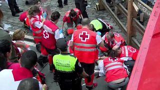 İspanya'da yine boğa koşusu çılgınlığı