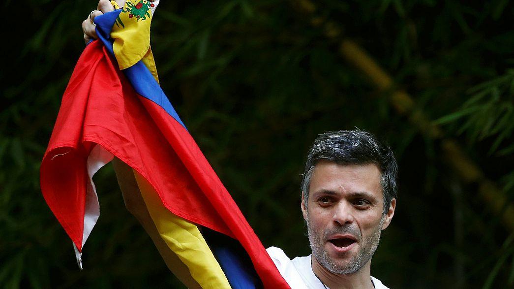 El opositor Leopoldo López pide que continúen las protestas en Venezuela