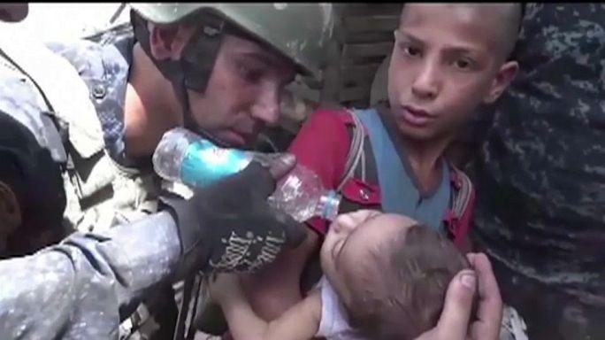 بالفيديو: إنقاذ أطفال محاصرين من قبضة داعش