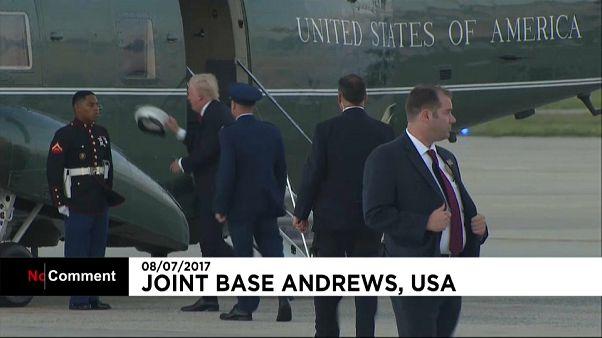 Retour venteux pour Trump