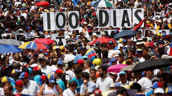 Venezuela opposition marks 100 days of protests