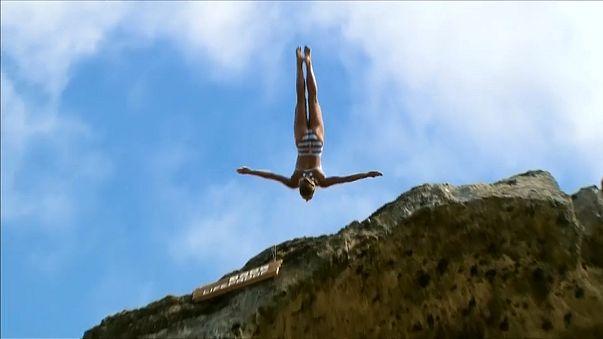 Duque e Jimenez vencem etapa açoriana de Cliff Diving