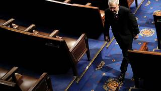 Image: U.S. Senate Majority Leader McConnell departs House Chamber on Capit