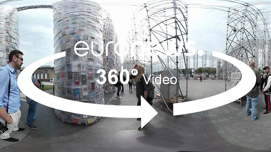 360-Grad-Video: Sie stehen mittendrin - im Parthenon der Bücher auf der Documenta 14 in Kassel