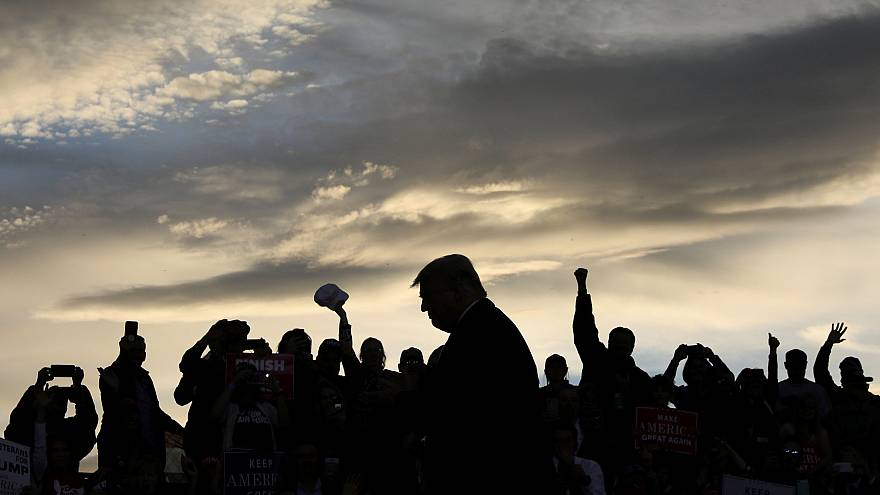 Image: U.S. President Trump rallies with supporters at Missoula Internation