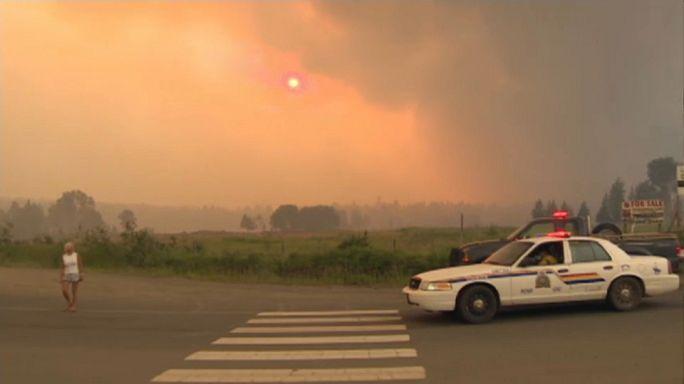 Kanada'da korkutan orman yangını