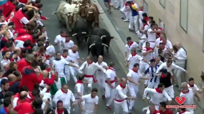 El encierro más veloz de los Sanfermines 2017
