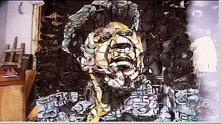 RDC : l'art sur chaussure de l'artiste-peintre Alain Super Ekosa