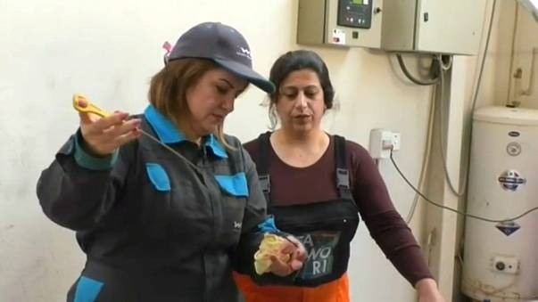 عراقية تترك وظيفتها وتعمل في تغيير زيوت السيارات