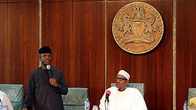 Nigeria's acting president briefly meets ailing Buhari in London