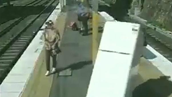 Watch: Australians caught moving furniture… by train