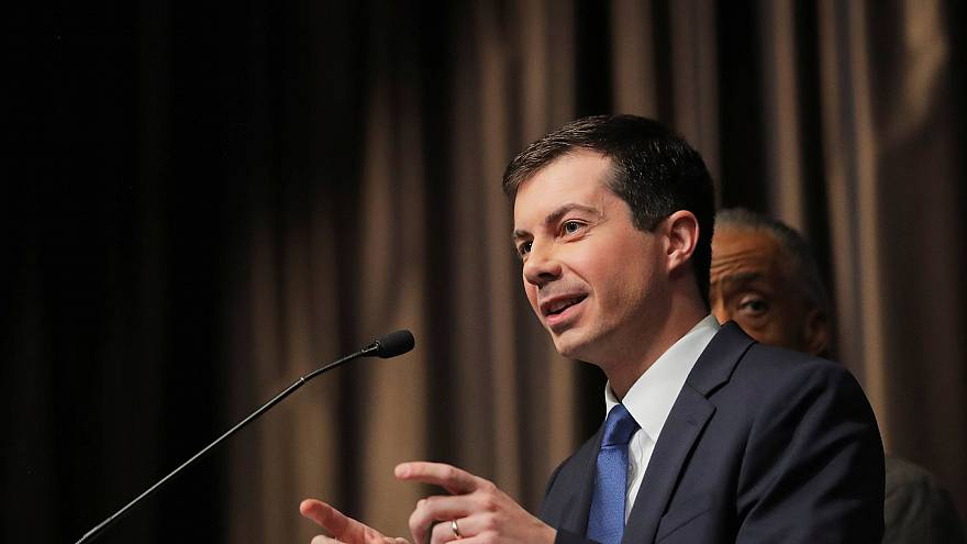 Image: U.S. 2020 Democratic presidential candidate Pete Buttigieg speaks at