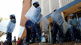 Zimbabwe police disperse electoral reform protest with tear gas