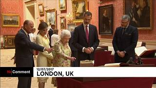 Spain's King Felipe and Queen Letizia join British royals