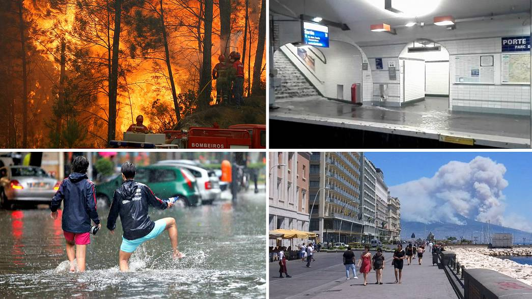 Watch: Extreme weather of Europe's summer