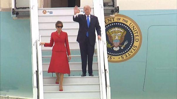 Donald Trump débarque à Paris