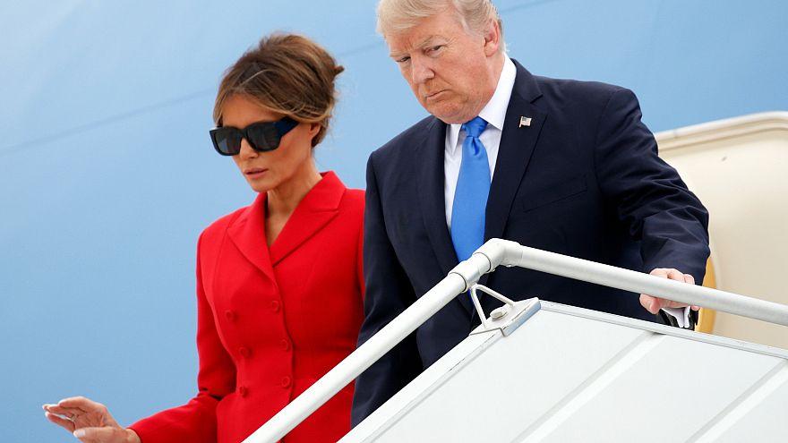 """ترامب يصل الى باريس والشارع الفرنسي """"لا يرحب به"""""""