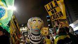 Alegria e indignação depois da condenação de Lula da Silva