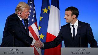 Bastille Day buddies Macron and Trump in Paris