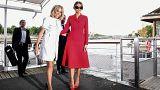 ترامب يمتدح قوام زوجة الرئيس الفرنسي