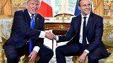 Trump a Parigi: prove d'intesa con Macron