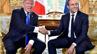 Trump and Macron celebrate similarities during US president's Paris visit