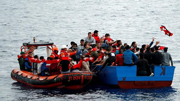Dramatic scenes as migrants rescued off Libyan coast