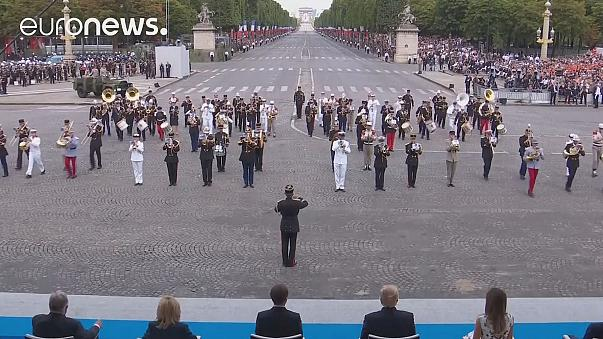 Crowds get lucky as France's military musicians play Daft Punk tracks