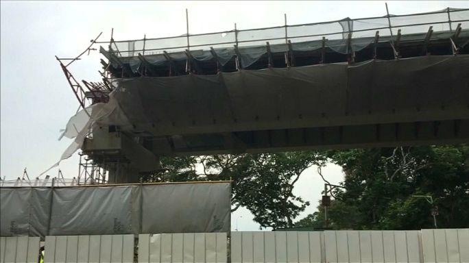 Singapur: Brücke eingestürzt