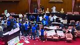 Fists fly over budget brawl in Taiwan parliament