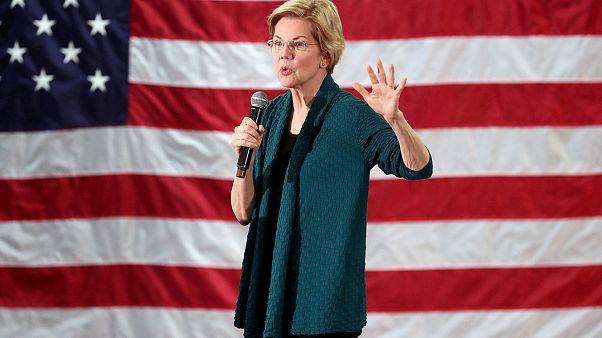 Image: Democratic 2020 U.S. presidential candidate and U.S. Senator Elizabe