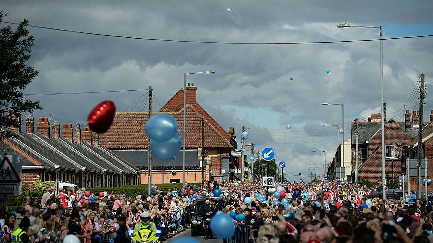 Hundreds attend funeral of cancer victim Bradley Lowery, 6