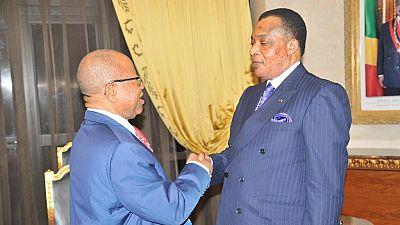 [Photos] A.U. observers meet Congo's Sassou ahead of July 16 legislative polls