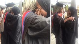Somali mom who fled 1999 war emotional as daughter graduates from U.K. varsity