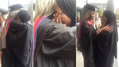 Somali mom who fled 1999 war emotional as daughter graduates